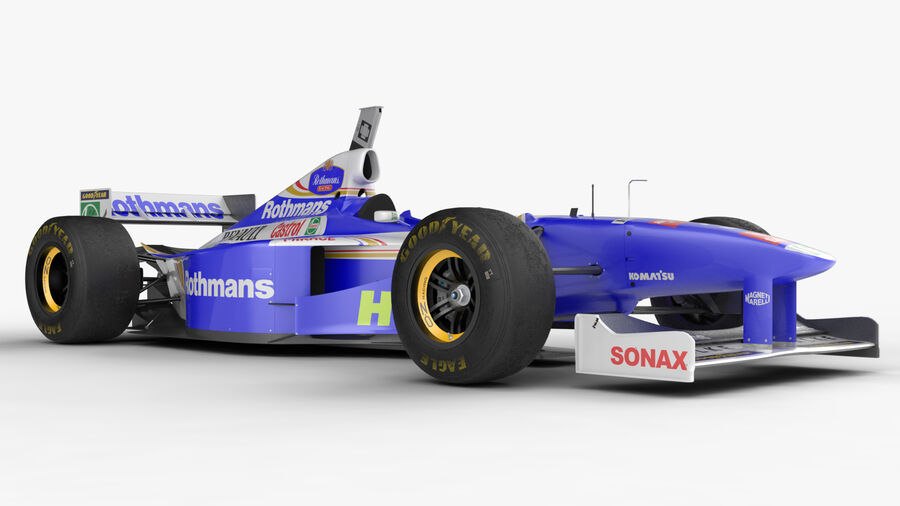 Williams FW19 royalty-free 3d model - Preview no. 12