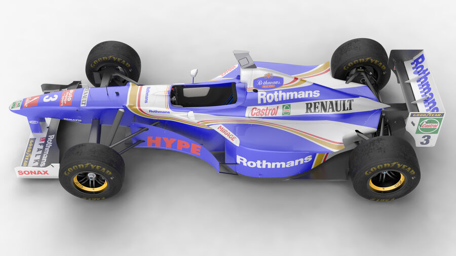 Williams FW19 royalty-free 3d model - Preview no. 9