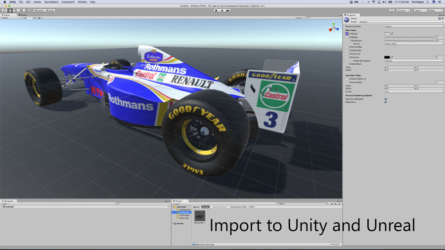 Williams FW19 royalty-free 3d model - Preview no. 21