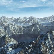 Ландшафт Горный Хребет Озеро Аляска 31 Пейзаж 3d model