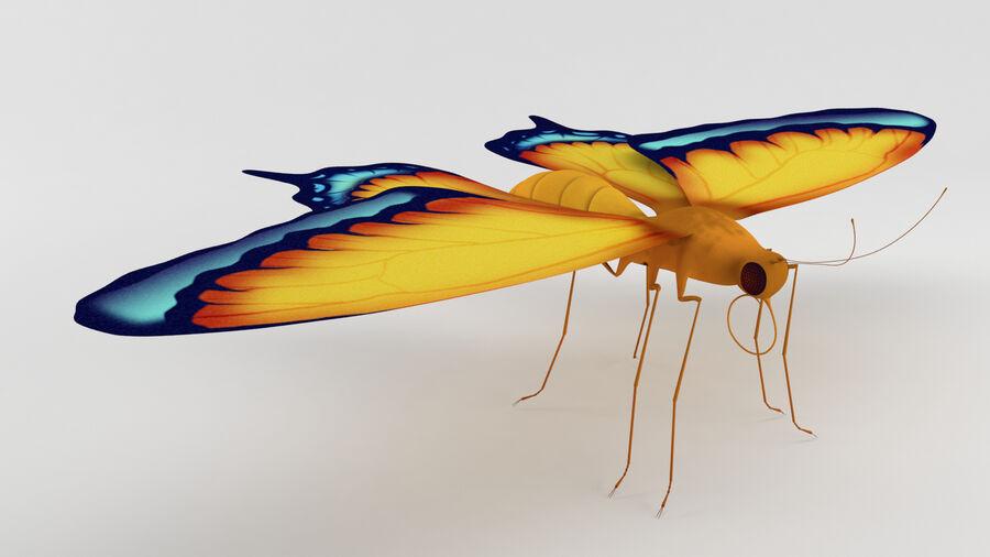 Vlinder royalty-free 3d model - Preview no. 3