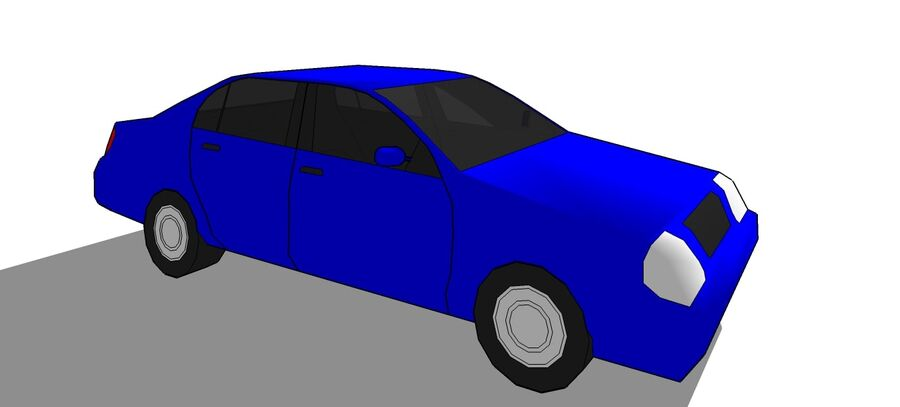Car Sedan royalty-free 3d model - Preview no. 4