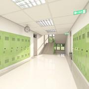 Corridoio della scuola 002 3d model