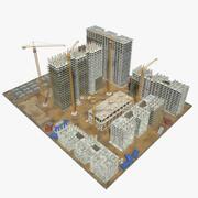Byggplatsblock 3d model