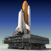Wyrzutnia wahadłowca kosmicznego 3d model