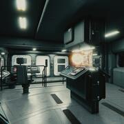 Starship Command Center PBR High Poly 2 3d model