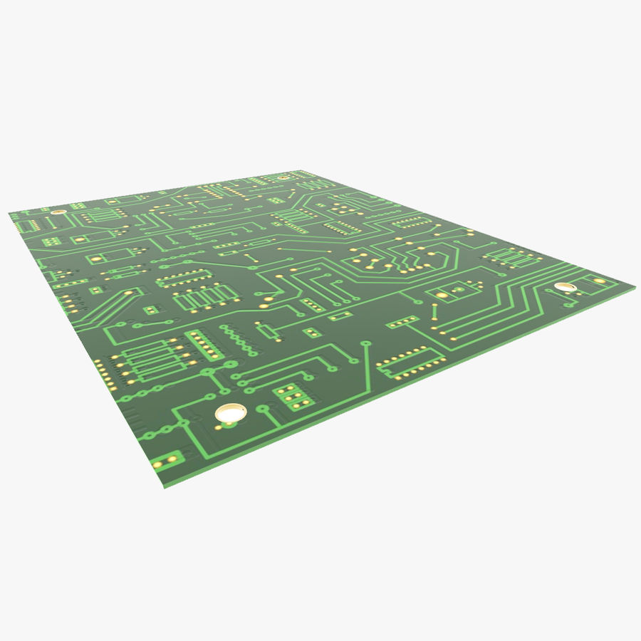 Electronic PCB 2 royalty-free 3d model - Preview no. 5
