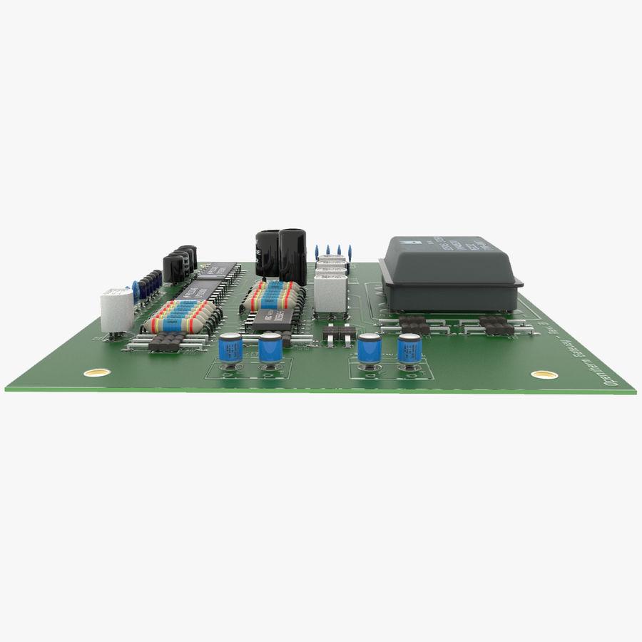 Elektronische Leiterplatte 2 royalty-free 3d model - Preview no. 3