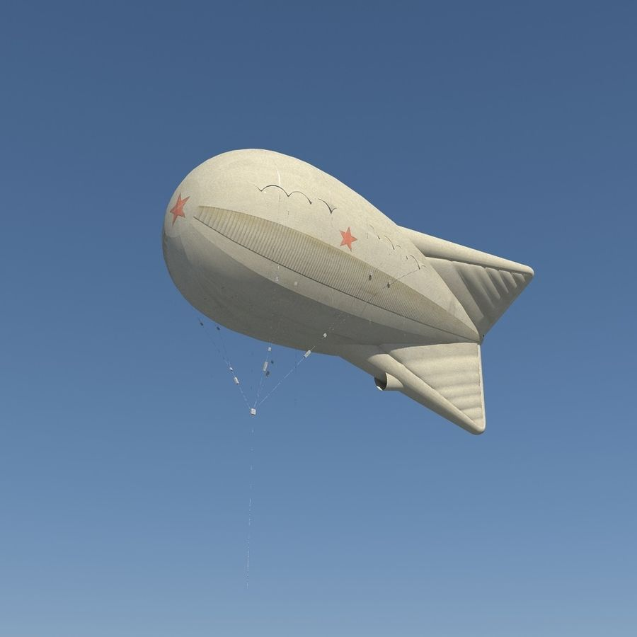 Balloon Ko12 royalty-free 3d model - Preview no. 2