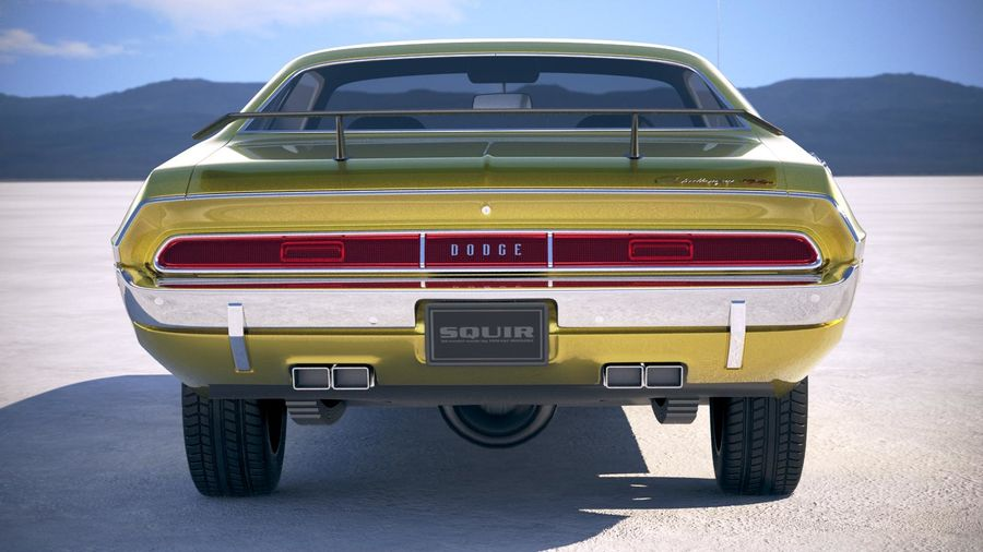 Dodge Challenger 1970 with interior royalty-free 3d model - Preview no. 11