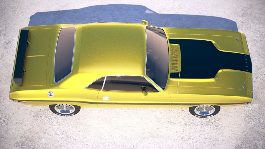 Dodge Challenger 1970 with interior royalty-free 3d model - Preview no. 8