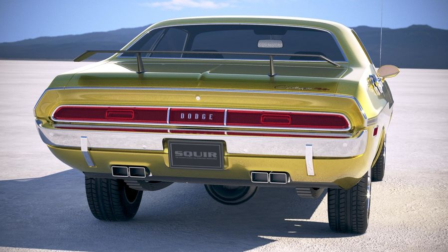 Dodge Challenger 1970 with interior royalty-free 3d model - Preview no. 6