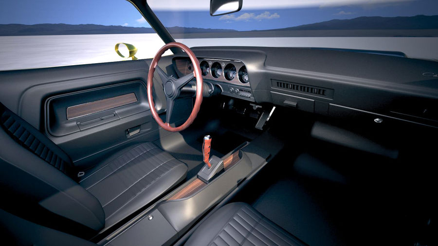 Dodge Challenger 1970 with interior royalty-free 3d model - Preview no. 17