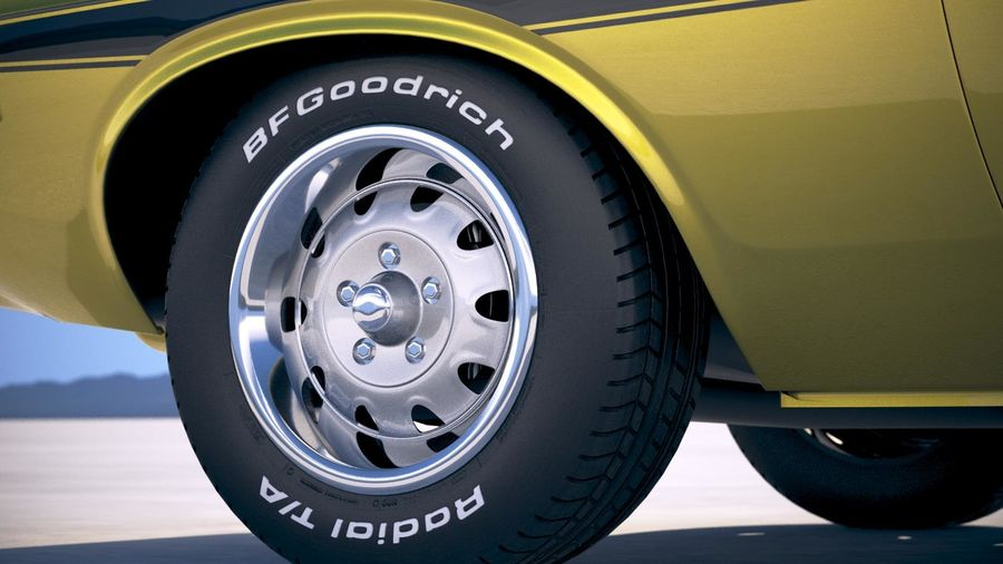 Dodge Challenger 1970 with interior royalty-free 3d model - Preview no. 15