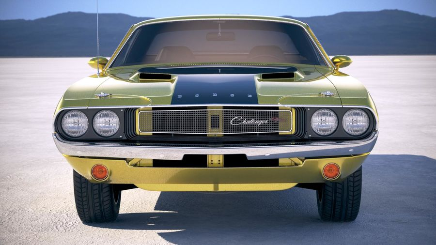 Dodge Challenger 1970 with interior royalty-free 3d model - Preview no. 10