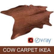 宜家Koldby棕色牛皮地毯地毯,用于逼真的室内虚拟化 3d model