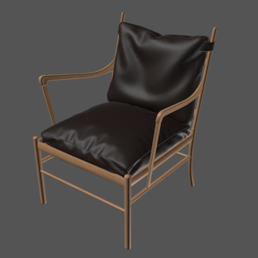 Ole Wanscher Ow149扶手椅 royalty-free 3d model - Preview no. 5