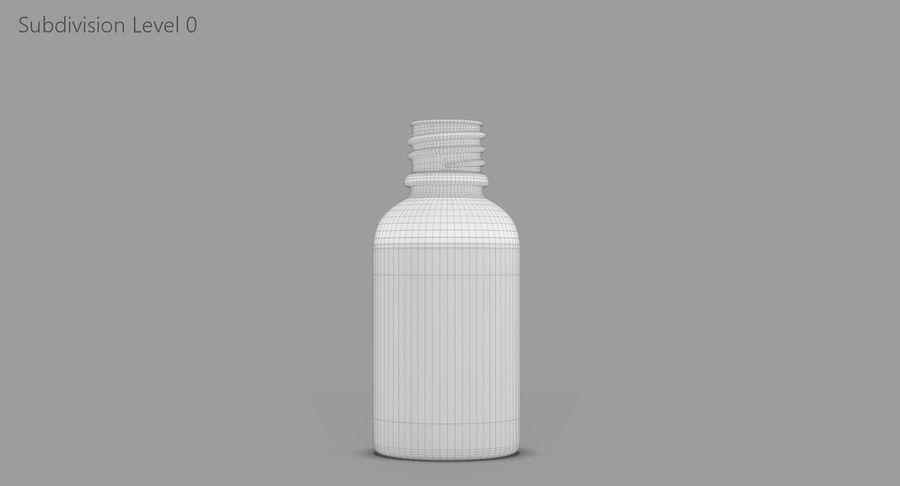 Bottiglia di vetro ambrato (30 ml) royalty-free 3d model - Preview no. 11