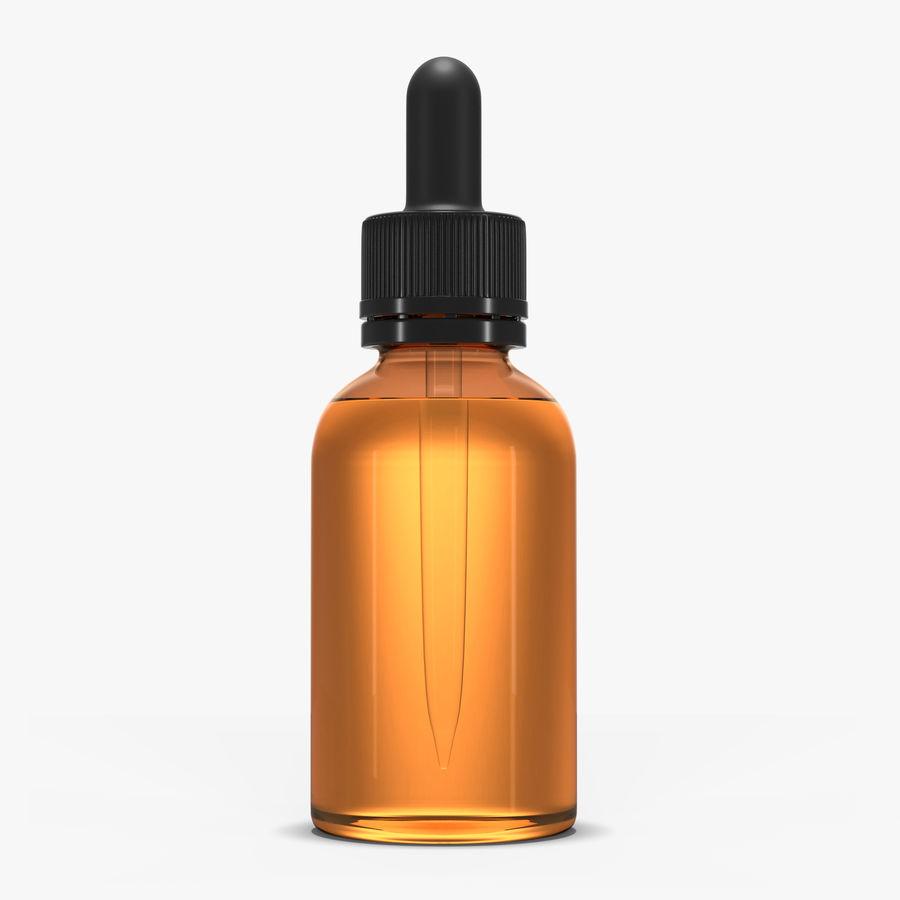 Bottiglia di vetro ambrato (30 ml) royalty-free 3d model - Preview no. 1