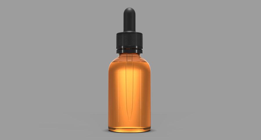 Bottiglia di vetro ambrato (30 ml) royalty-free 3d model - Preview no. 3
