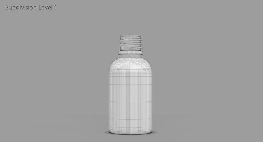 Bottiglia di vetro ambrato (30 ml) royalty-free 3d model - Preview no. 12