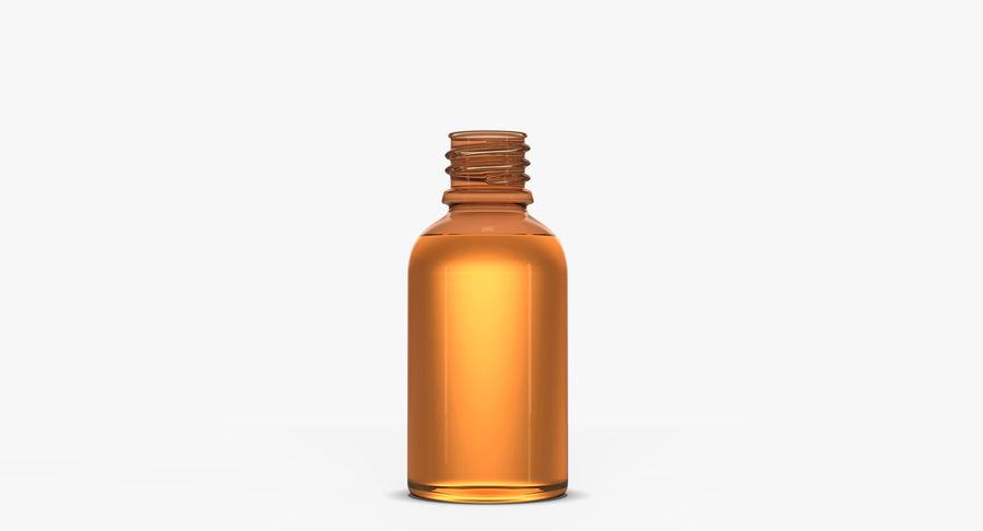 Bottiglia di vetro ambrato (30 ml) royalty-free 3d model - Preview no. 4