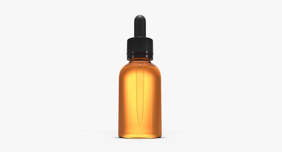 Bottiglia di vetro ambrato (30 ml) royalty-free 3d model - Preview no. 5