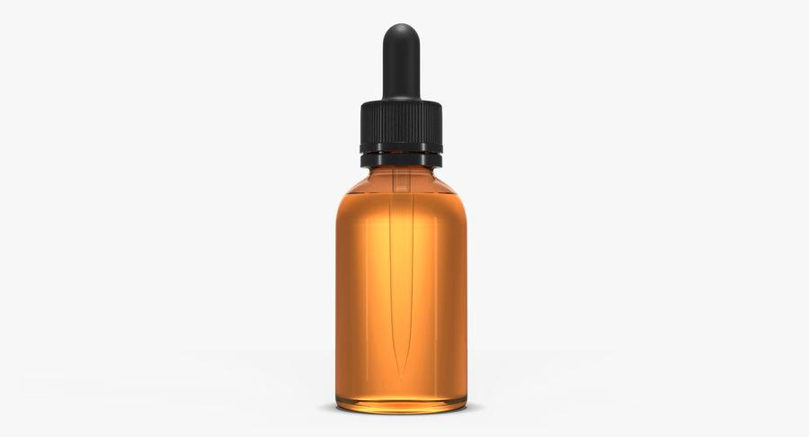 Bottiglia di vetro ambrato (30 ml) royalty-free 3d model - Preview no. 2