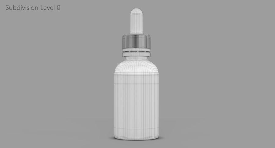 Bottiglia di vetro ambrato (30 ml) royalty-free 3d model - Preview no. 9