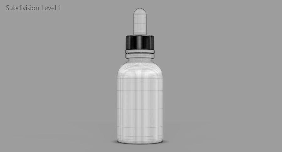 Bottiglia di vetro ambrato (30 ml) royalty-free 3d model - Preview no. 10