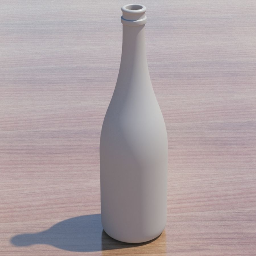 Botella de champagne royalty-free modelo 3d - Preview no. 4