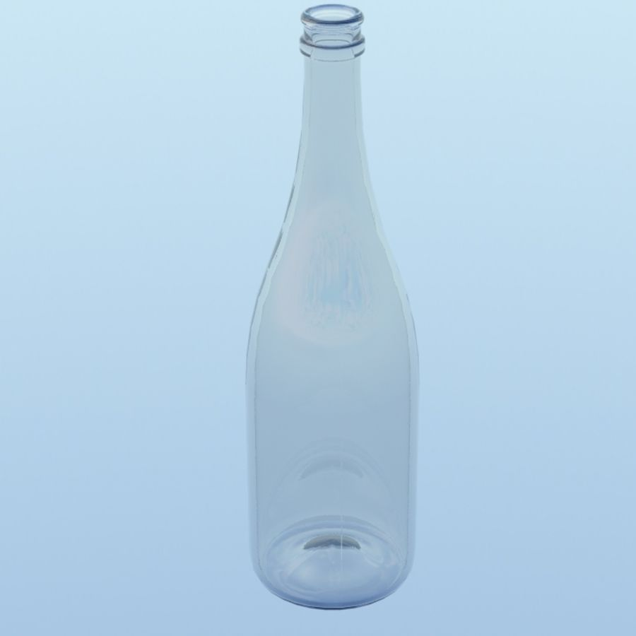 Botella de champagne royalty-free modelo 3d - Preview no. 2