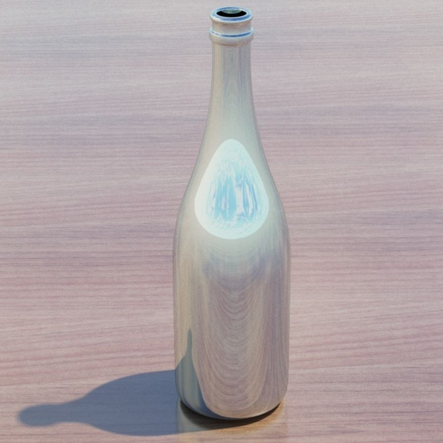 Botella de champagne royalty-free modelo 3d - Preview no. 3