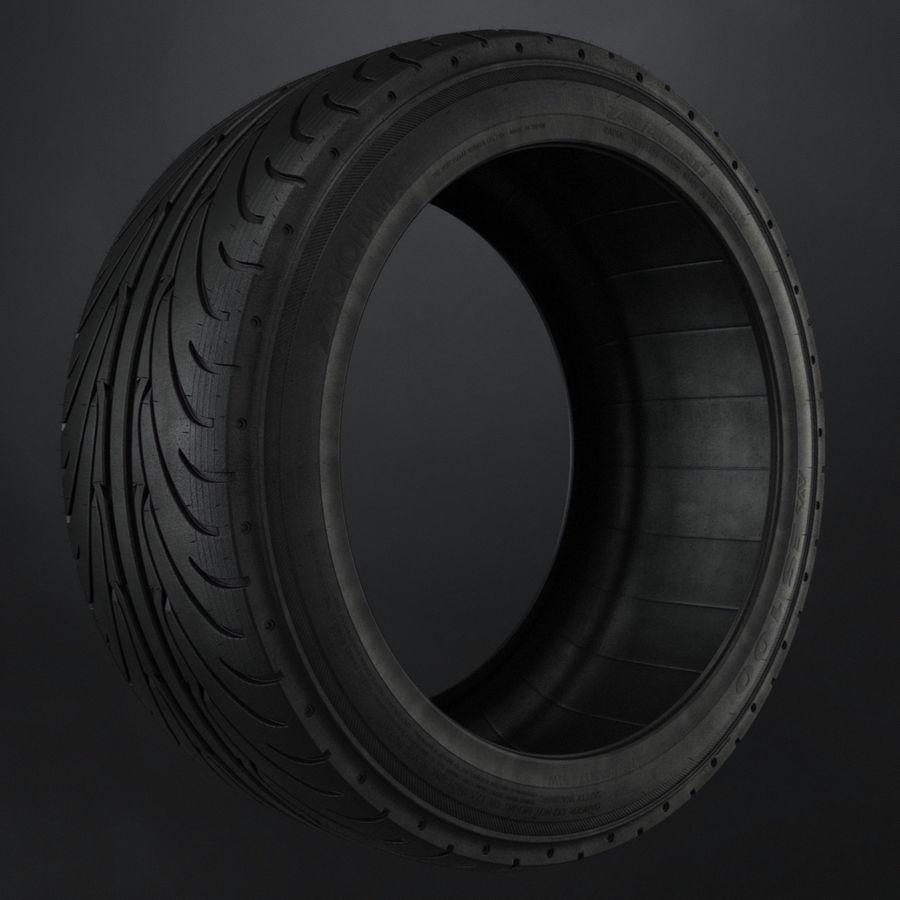 Tire Yokohama avs es100 + Brembo brake system royalty-free 3d model - Preview no. 4
