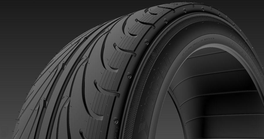 Tire Yokohama avs es100 + Brembo brake system royalty-free 3d model - Preview no. 13