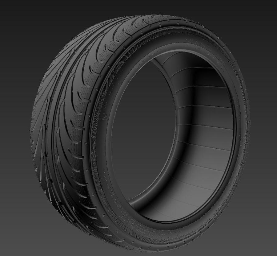 Tire Yokohama avs es100 + Brembo brake system royalty-free 3d model - Preview no. 8