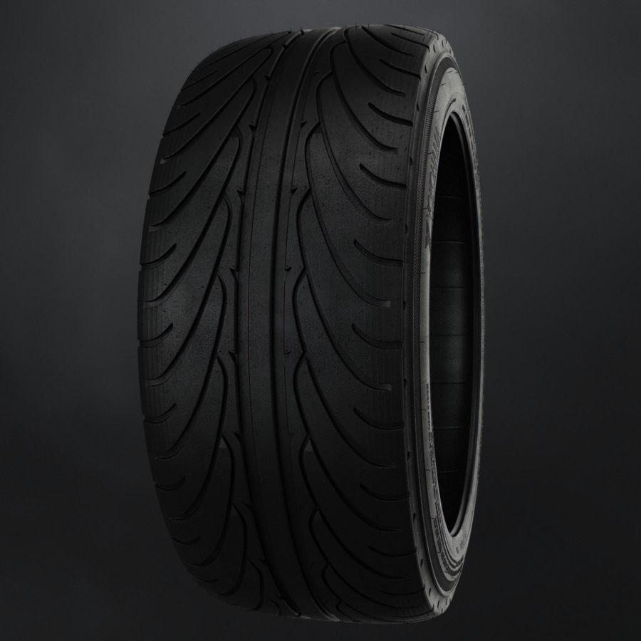 Tire Yokohama avs es100 + Brembo brake system royalty-free 3d model - Preview no. 5