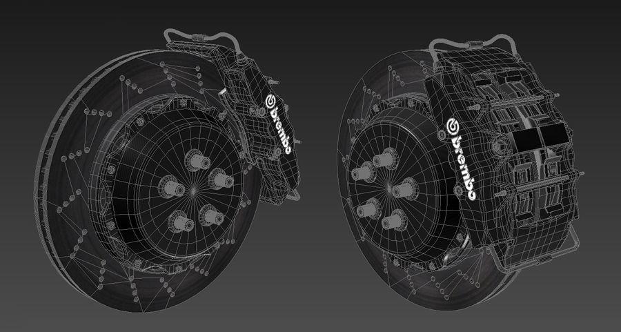 Tire Yokohama avs es100 + Brembo brake system royalty-free 3d model - Preview no. 16