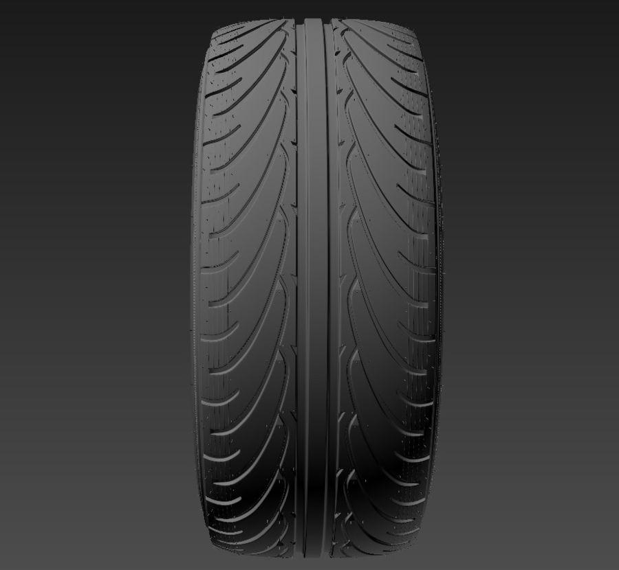 Tire Yokohama avs es100 + Brembo brake system royalty-free 3d model - Preview no. 10