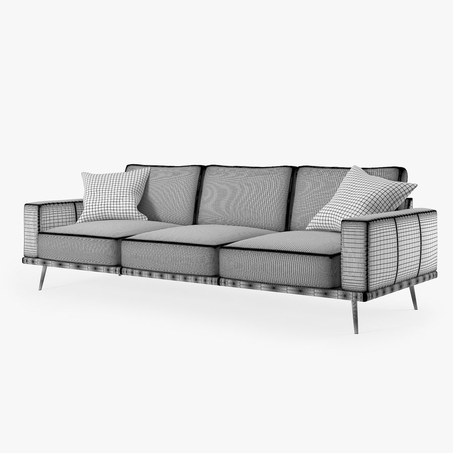Carlton Soffa BoConcept royalty-free 3d model - Preview no. 3