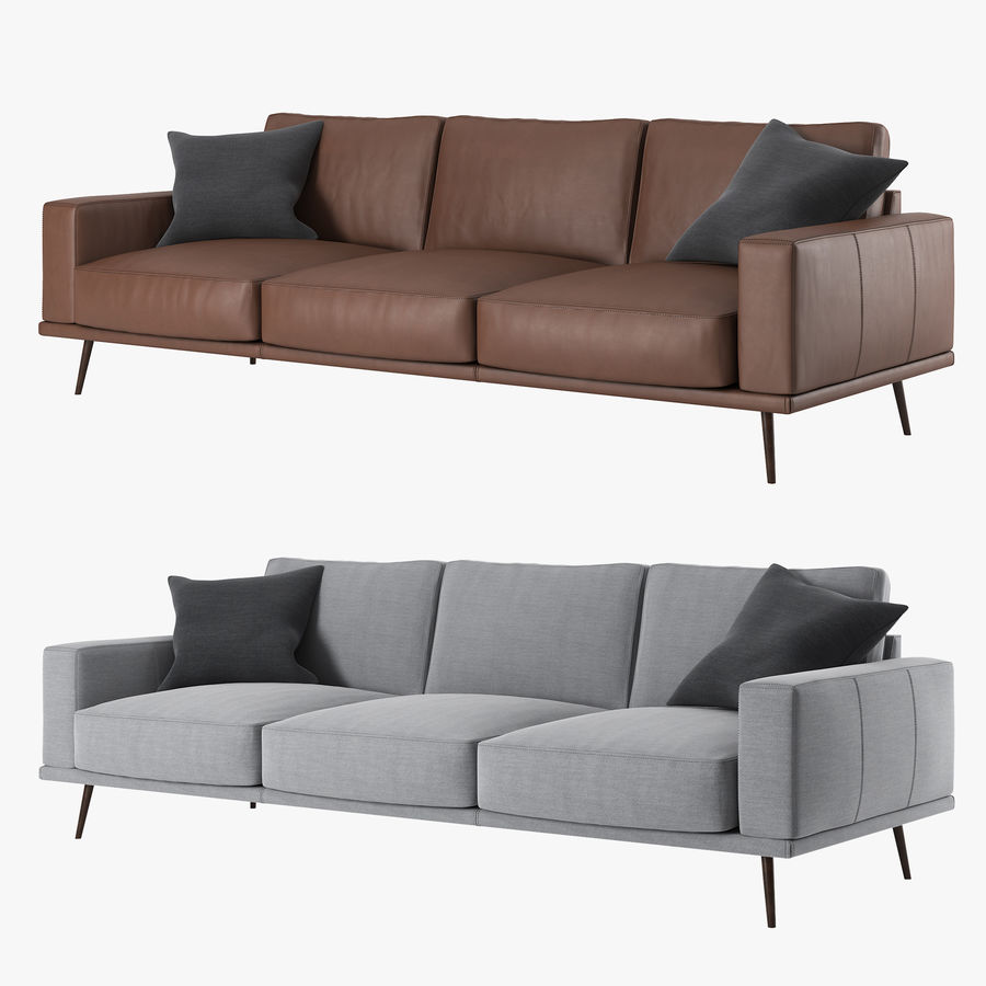 Carlton Sofa BoConcept royalty-free modelo 3d - Preview no. 1