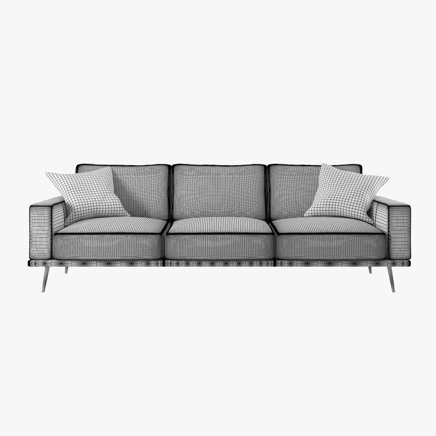Carlton Soffa BoConcept royalty-free 3d model - Preview no. 4