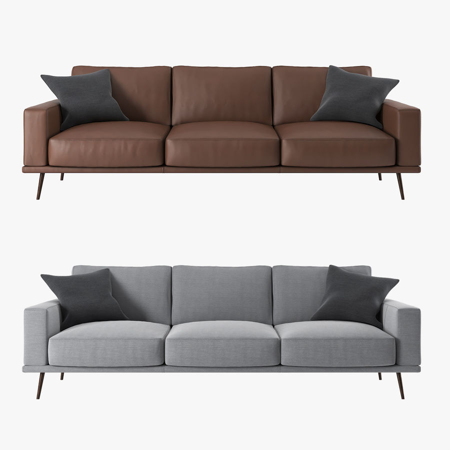 Carlton Sofa BoConcept royalty-free modelo 3d - Preview no. 2