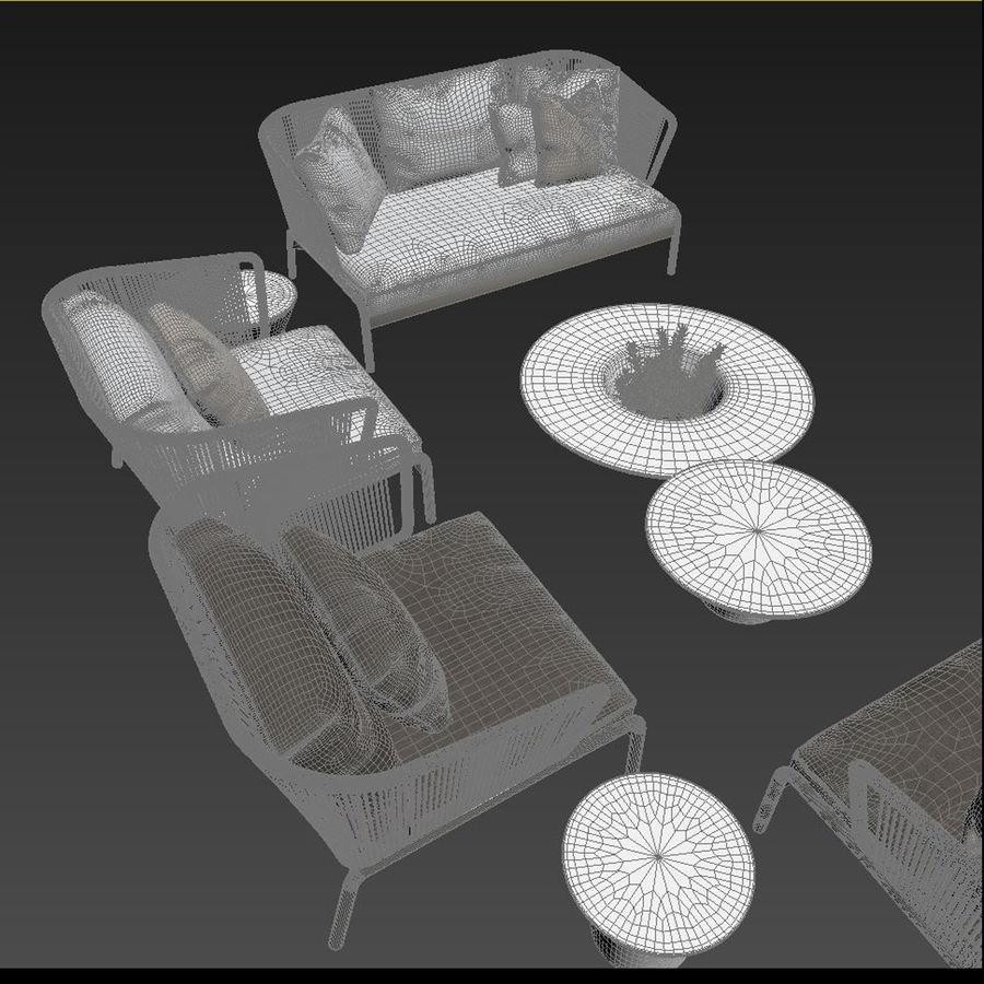 Sofá para área externa RODA SPOOL royalty-free 3d model - Preview no. 6