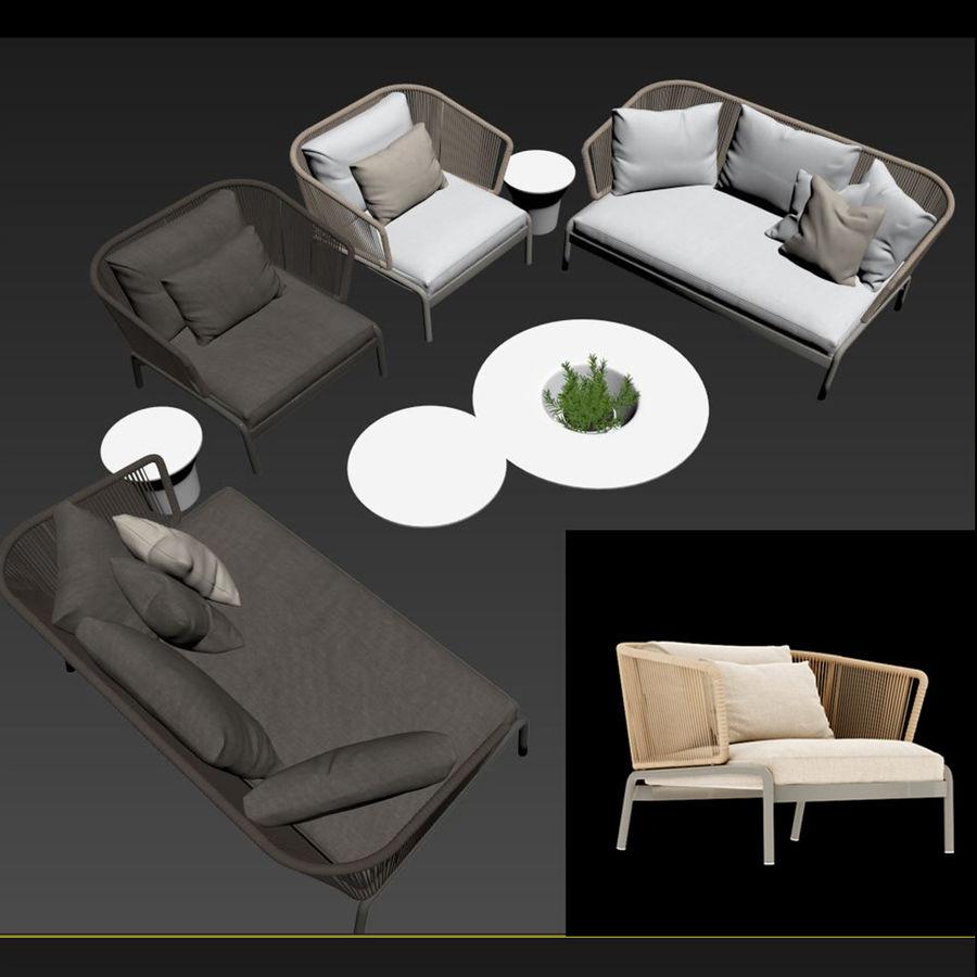 Sofá para área externa RODA SPOOL royalty-free 3d model - Preview no. 5