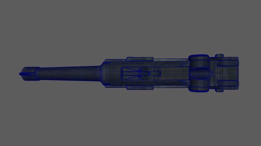 Люгер немецкий пистолет Второй мировой войны royalty-free 3d model - Preview no. 7