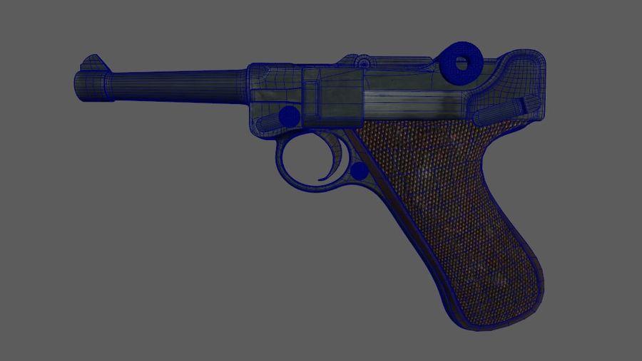 Люгер немецкий пистолет Второй мировой войны royalty-free 3d model - Preview no. 6