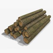 木の丸太 3d model