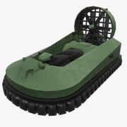 Hovercraft Boat (low poly) 3d model
