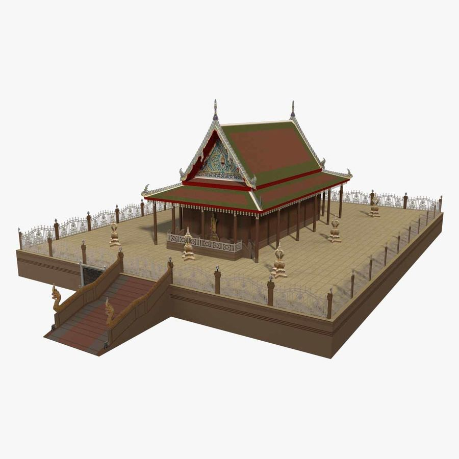 Asian temple royalty-free 3d model - Preview no. 1